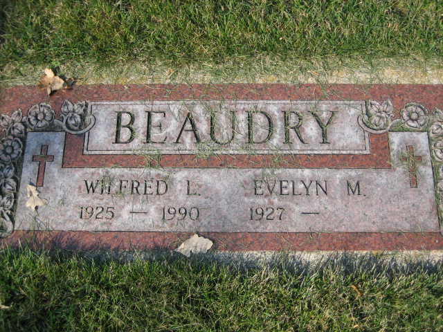 Beaudry, Wilfred and Evelyn, Companion Memorials
