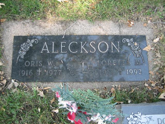 Aleckson, Oris W. and Loretta M., Companion Memorial
