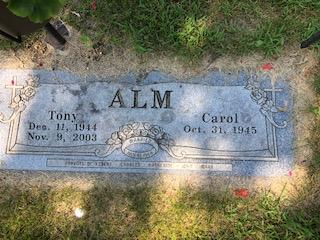 Alm, Tony S , Companion Memorial