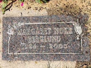 Berglund, Margaret, Individual Memorial